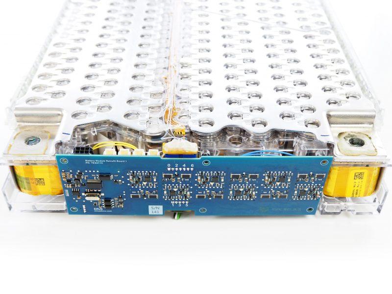 Tesla Model S battery module BMS retrofit board